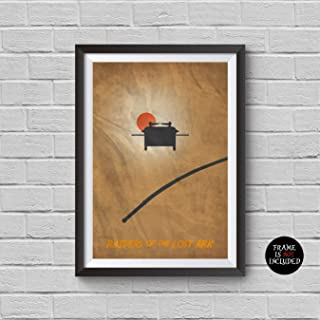 Indiana Jones Minimalist Poster Indiana Jones and the Raiders of the Lost Ark A Steven Spielberg Film Harrison Ford Prints Collectibles Cult Movies Wall Artwork Home Decor Hanging Cool Gift