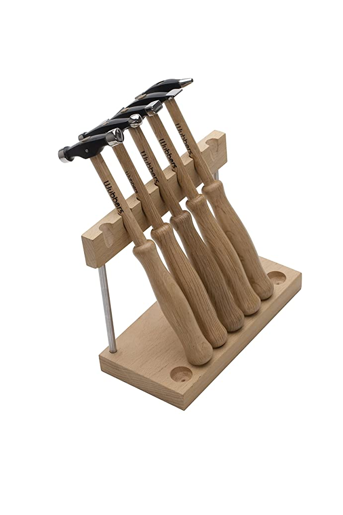 Wubbers Artisan's Mark 5 Pc Hammer Set W/Stand   HAM-6200