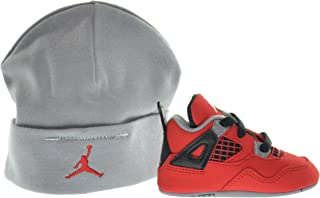 Jordan 4 Retro (GP) Infants Shoes Gift Pack Fire Red/White-Black-Cement Grey 487219-603