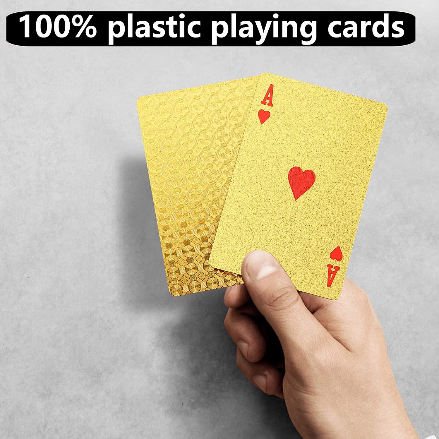 Nlager 2 Decks Waterproof Playing Cards Canasta Durable Flexible Patterned Design PET Poker Playing Cards for Blackjack Black -2pcs Euchre Casino Grade Pinochle Card Game