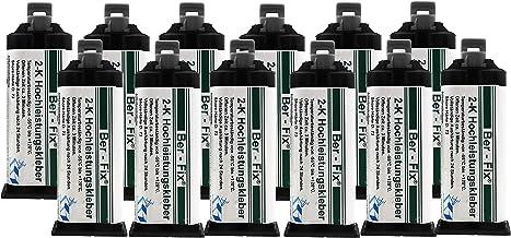 Ber-Fix® 12 x 50 g 2K krachtige lijm 3 minuten voor metaal en kunststof lijmen.