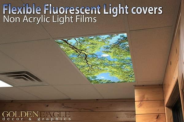 森林天篷景观 2ft X 4ft 吊顶荧光装饰顶灯盖天窗贴膜