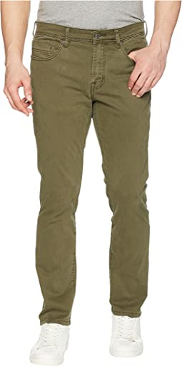Liverpool Slim Straight in Comfort Stretch Twill in Olive Night