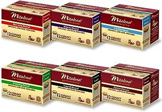 Mitalena Variety Pack Low Acid Organic Gourmet Coffee 72 ct K-cup (6 packs of 12 ct)
