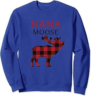 Nana Moose Christmas Plaid Xmas Sweatshirt