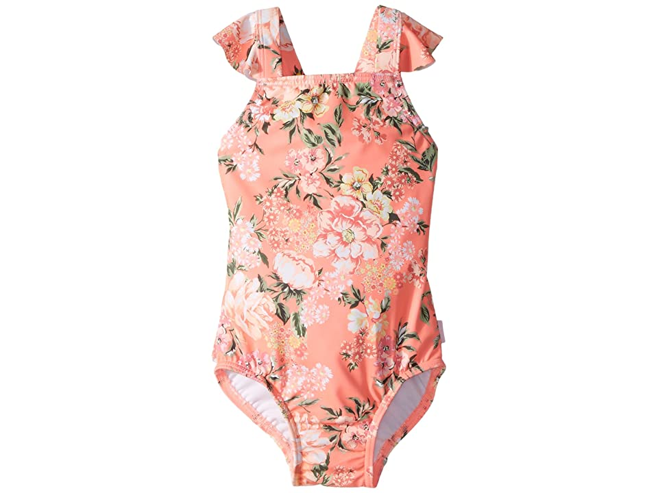 Seafolly Kids Forget Me Not Ruffle Tank One-Piece (Infant/Toddler/Little Kids) (Blossom Pink) Girl