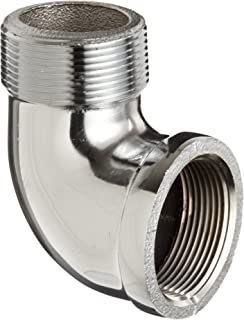 Chrome Plated Brass Pipe Fitting, 90 Degree Street Elbow, 1/2