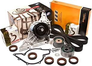 Evergreen TBK297CWP Fits 98-05 Audi A4 A6 Volkswagen Passat V6 2.8L DOHC Timing Belt Kit GMB Water Pump