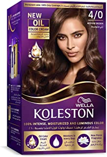 مجموعة صبغة شعر كريمي كوليستون كولور من ويلا - لون بني متوسط 4/0
