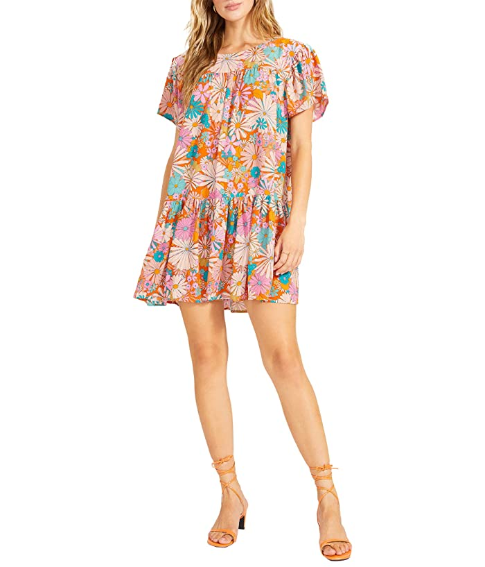70s Dresses – Disco Dress, Hippie Dress, Wrap Dress BB Dakota x Steve Madden In Retrospect Dress - Floral Mini Dress Womens Clothing $88.95 AT vintagedancer.com