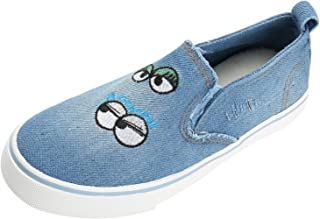 Alexis Leroy Kid's Cute Low Up Slip on Canvas Sneakers Casual Fashion Shoes