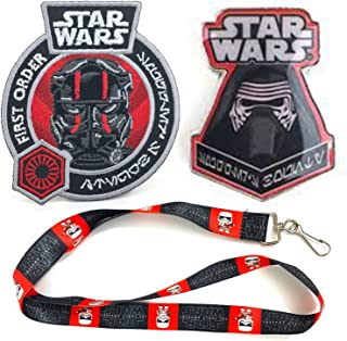 Star Wars The Force Awakens Smugglers Bounty Lanyard, Star Wars Pin - Featuring Kylo Ren & Patch - Featuring Tie Fighter Pilot