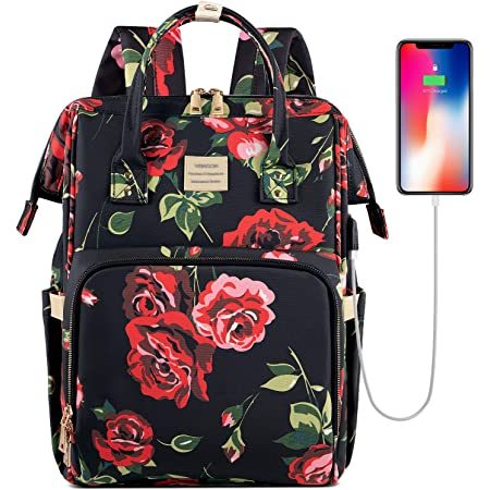 15.6 Inch Laptop Backpack Work Travel Bag USB Anti-Theft Pocket Professional Tote Purse Stylish Water Resistant College Daypack