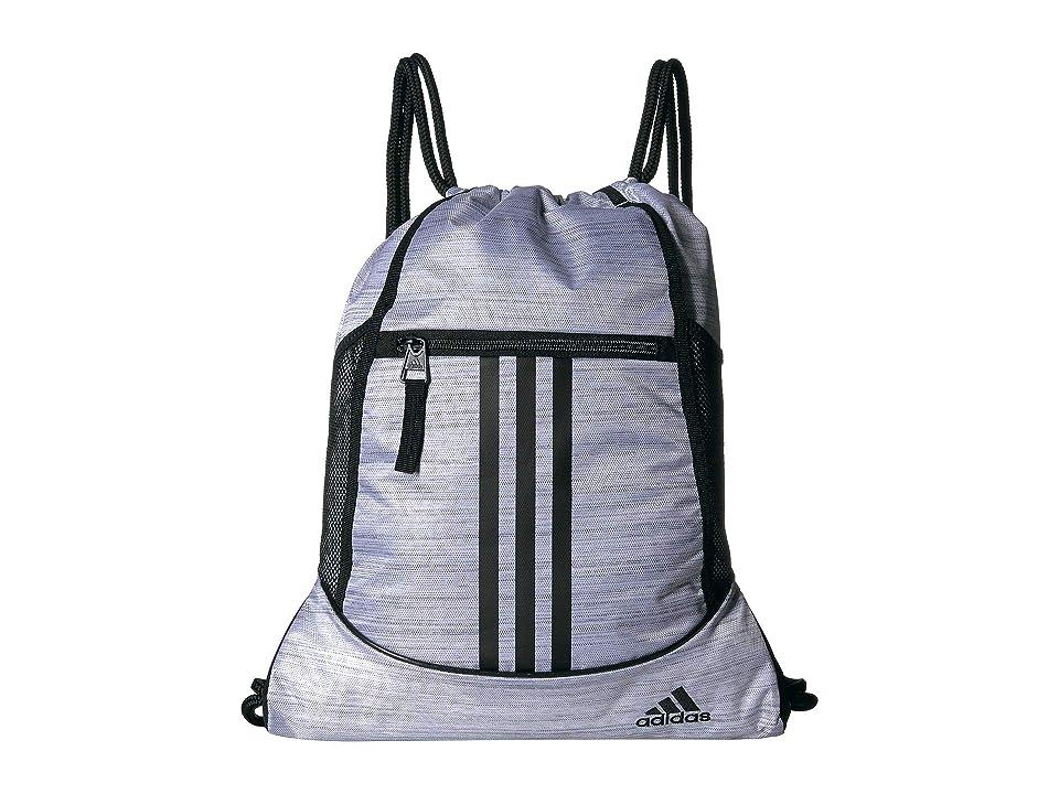 adidas Alliance II Sackpack (White Two-Tone/Black) Backpack Bags