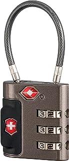 Victorinox Travel Sentry - Candado para cable, Grey/Red Logo, Una talla