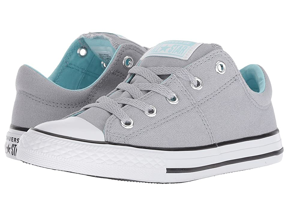 Converse Kids Chuck Taylor(r) All Star(r) Madison Ox (Little Kid/Big Kid) (Wolf Grey/Cyan Tint/White) Girls Shoes