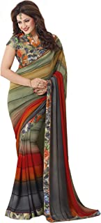 Palav Fashion Women's Georgette Saree with Blouse Piece