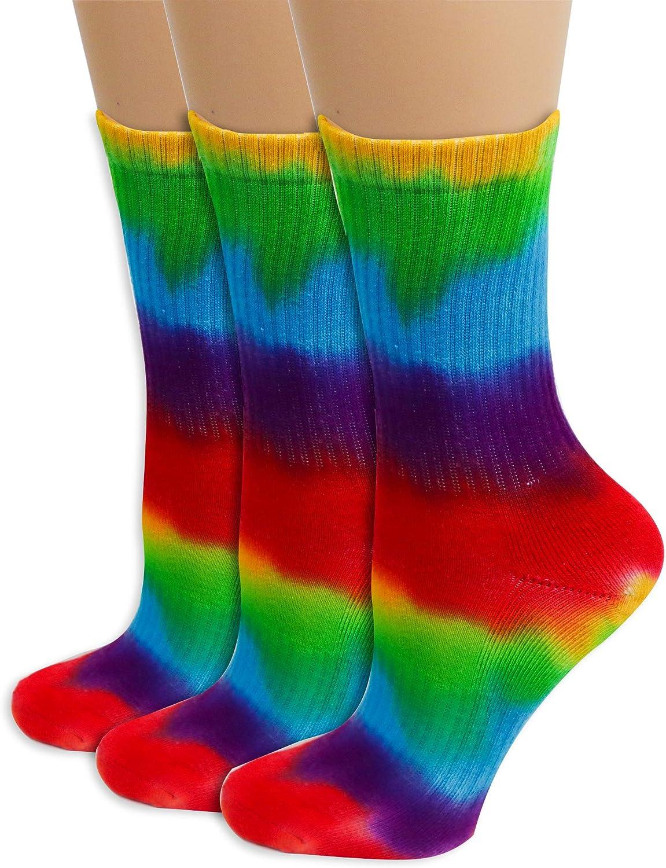 Silas Creek Co. Women's Men's Unisex Tie Dye Crew Organic Cotton Athletic Socks