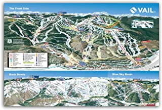 Mtns Co Vail Ski Resort Trail Map | Canvas Poster 36