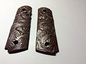 HANTRU USA BRONZE micro finish Dragon Grips Fit 1911 Colt 45 Most Clones!
