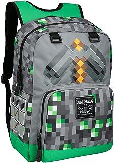 Minecraft Emerald Survivalist - Mochila escolar para niños, verde, 43 cm