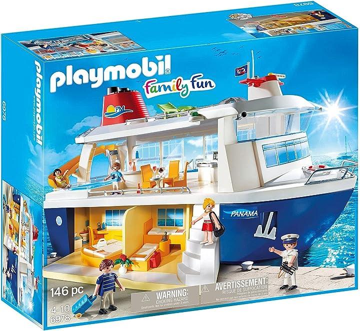 Nave da crociera playmobil- family fun giocattolo multicolore 6978