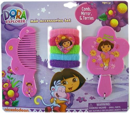 entrega de rayos Dora the Explorer Comb, Mirror, & Terries Set 7pc by by by Global Design Concepts  online al mejor precio