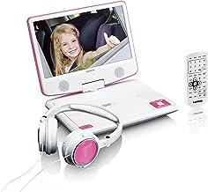 Lenco tragbarer DVD-Player DVP-910 9 Zoll (22,5 cm) mit drehbarem Display und..