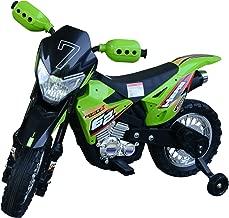 Homcom Motocross électrique 35 W 107L x 53l x 70H cm Enfants 3 à 8 Ans Vert avec roulettes Amovibles
