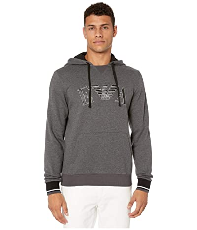 Emporio Armani Iconic Terry Sweater (Dark Gray Melange) Men
