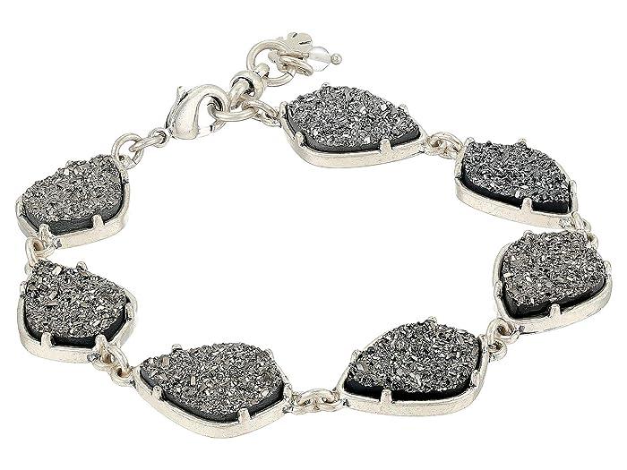 Lucky Brand  Druzy Flex Bracelet (Silver) Bracelet