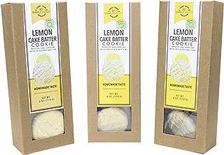Simply Sweet Bakeshop Lemon Cake Batter Dessert Cookies, 6 Ounces, 3-Pack (18 Ounce Total)