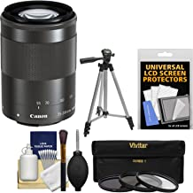 Canon EF-M 55-200mm f/4.5-6.3 is STM Lens with Tripod + 3 UV/CPL/ND8 Filters + Kit for EOS M, M2, M3 ILC Digital Camera
