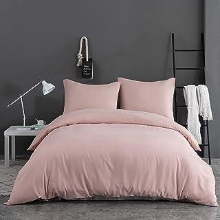 AYSW 14 Couleurs Parure de lit avec Housse de Couette 220 x 240 cm / 65 x 65 x 2 cm Parure 3 pièces pour 2 Personnes avec ...