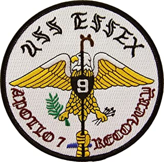 USS Essex CV-9 Apollo 7 Recovery Patch Full Color