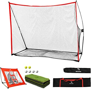 Golf Net,WhiteFang 4 in 1 Golf Practice Set 10x7ft/3 in 1 Golf Netting Bundle/Just Golf Chipping Net/Just Golf Hitting Gra...