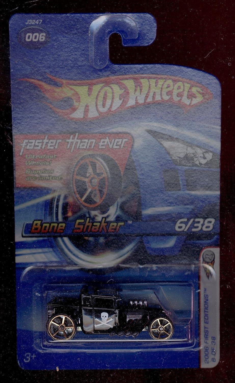Hot Wheels 2006-006 Bone Shaker 6 38 BLACK First Edition 1 64 Scale