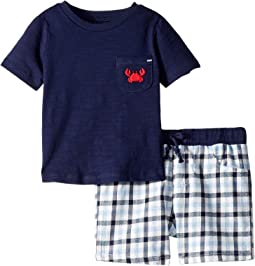 Crab Shorts Set (Infant/Toddler)