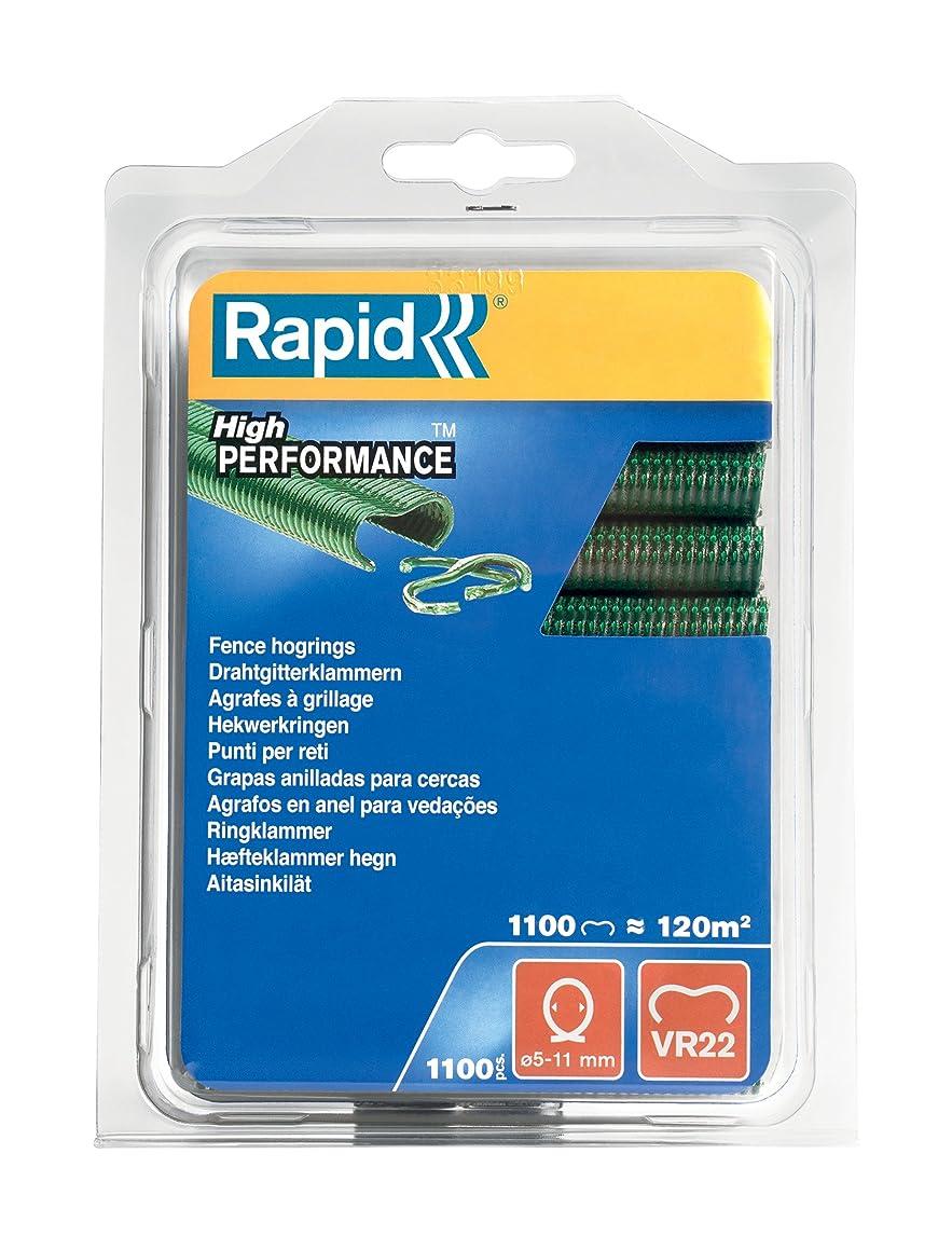 Rapid 40108807 VR22 Heavy Duty Fence Hog Rings - Green (Pack of 1100)