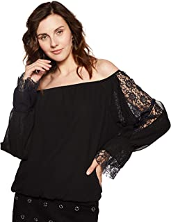 KATALIYA Off Shoulder lace Panel Blouson top