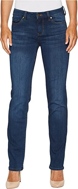 Sadie Straight Jeans in Silky Soft Stretch Denim in Helms Dark