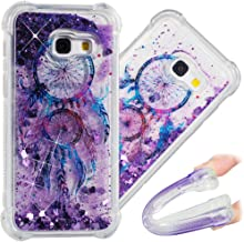 A7 2017 Case, 3D Cute Painted Glitter Liquid Sparkle Floating Luxury Bling Quicksand Shockproof Protective Bumper Silicone Case Cover for Samsung Galaxy A7 2017 A720.