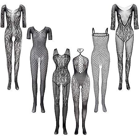 3 Pi/èces Robes en R/ésille Robes Lingerie R/ésille V/êtements de Nuit R/ésille Creux pour Faveur des Femmes