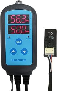 Inkbird IHC-200 Higrostato Digital, Doble Relés para Controlar la Humedad Humidificador&Deshumidificador para Reptiles Terrarios, Cultivo de hongos, Tocino Marinado y Secado Habitación