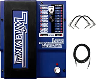 DigiTech Whammy 5 Pitch Shift Pedal with True Bypass and MIDI Input with R-Angle Patch pedal cable and Instrument Cable.