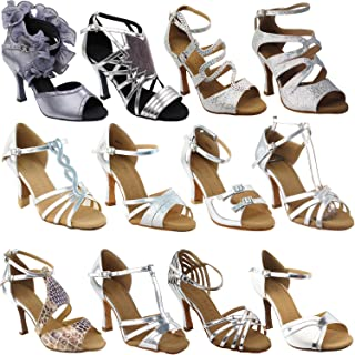 50 Shades of Silver Dance Dress Shoes 1: Ballroom Salsa Latin Clubing Latin Wedding