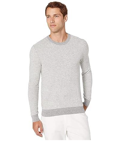 Michael Kors Zigzag Stripe Crew Sweater (Heather Grey) Men