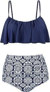 Angerella Women's Cute Ruffles Strap Swimsuit Crop Top Flounce Bikini
