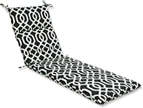 Pillow Perfect Outdoor New Geo Chaise Lounge Cushion, Black/White