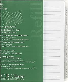 C.R. Gibson Blank Address Book Refills 3 Ring Address Book, 55 pgs.